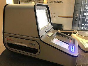 la valutazione oro 750 avviene tramite Spettrometro ai Raggi X